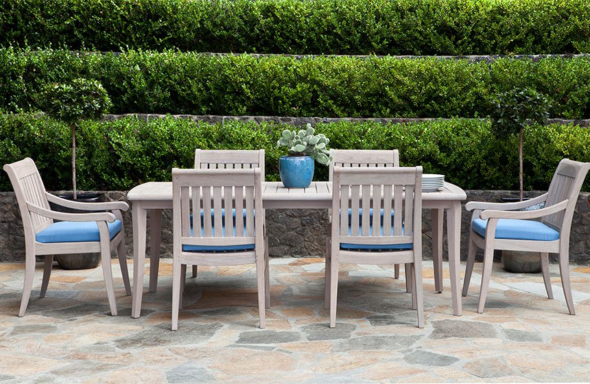 Jensen Leisure gray weathered wood outdoor furniture